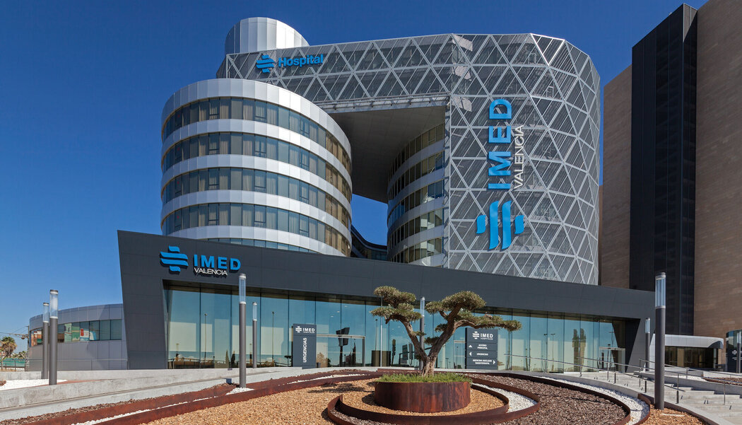CW 50-SC Curtain Walls and CW 50 Curtain Walls - IMED Hospital located in Spain
