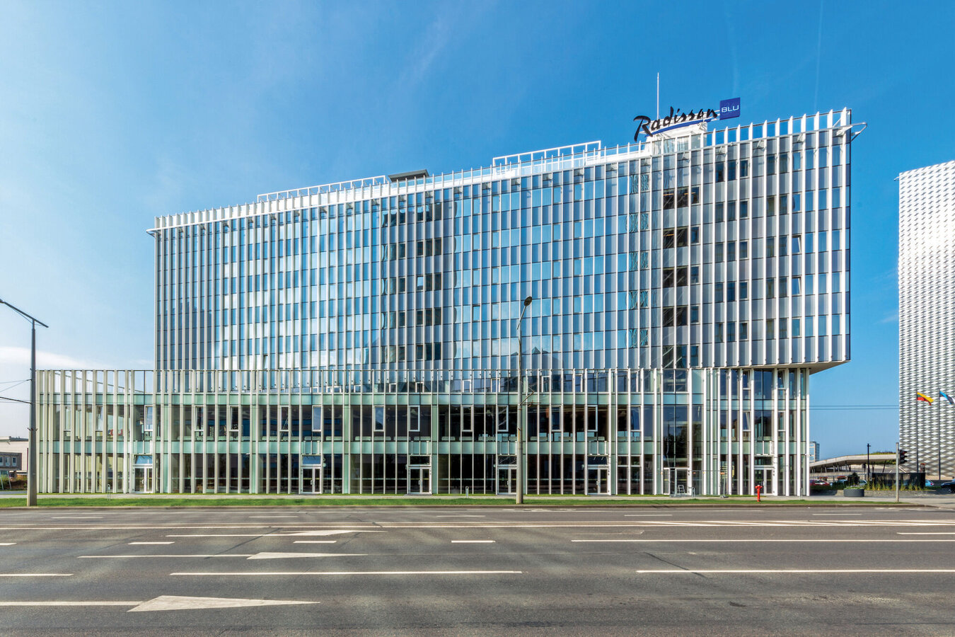 CW 50-HI Curtain Walls - Residental/Project Radisson Blu located in Vila-real, Lithuania